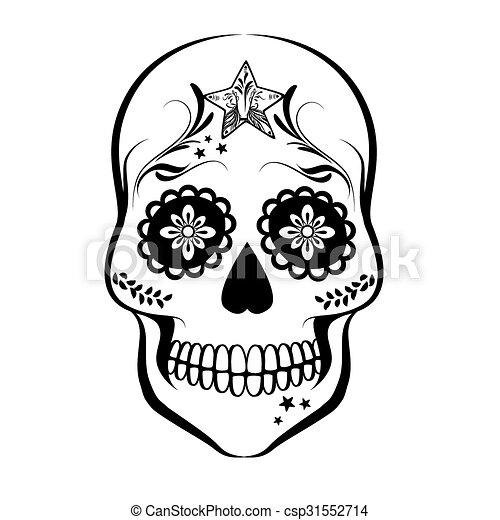 sugar skull vector sugar skull isolated on white background rh canstockphoto com sugar skull vector free sugar skull vector png