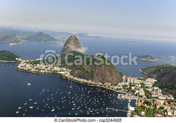 Sugarloaf Mountain in Rio de Janeiro - csp3244928