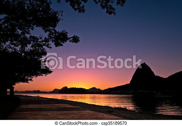 Sugarloaf Mountain Sunrise - csp35189570
