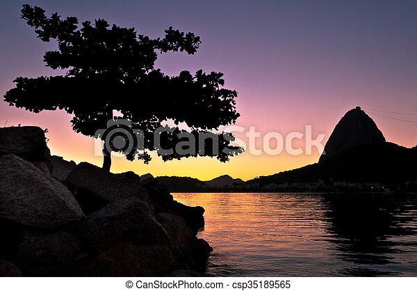 Sugarloaf Mountain Sunrise - csp35189565