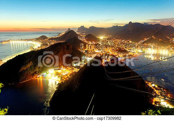 Sugarloaf Mountain Sunset - csp17309982
