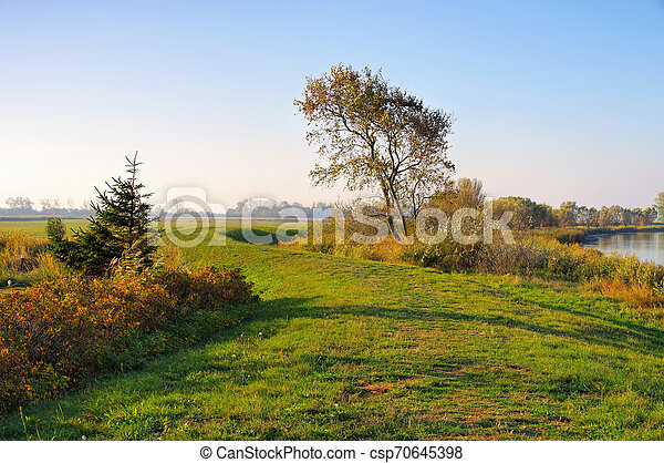 Suhrendorf on island Ummanz in Germany in autumn - csp70645398