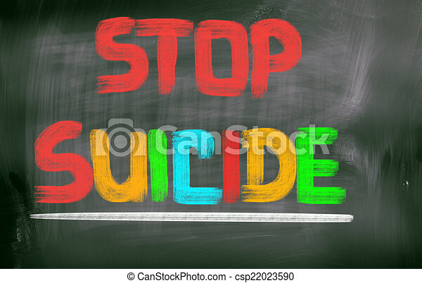 suicidio, concepto, parada - csp22023590
