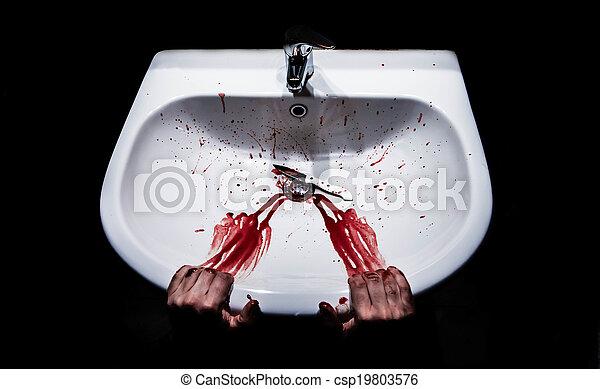 suicidio, concepto - csp19803576
