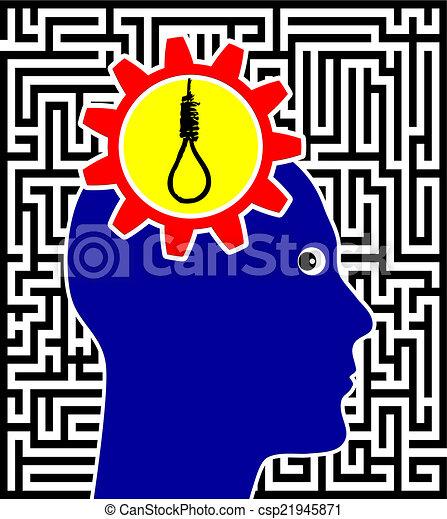 suicidio, concepto, señal - csp21945871