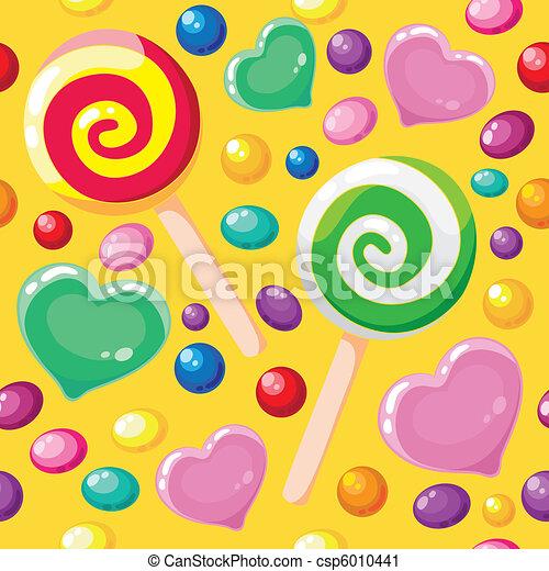 suikergoed, model, seamless, schattig - csp6010441