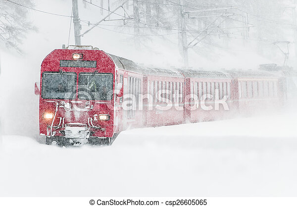 suisse, montagne, train, neige - csp26605065