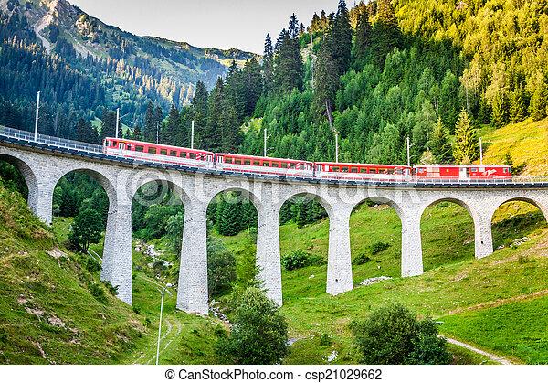suisse, railway., switzerland. - csp21029662