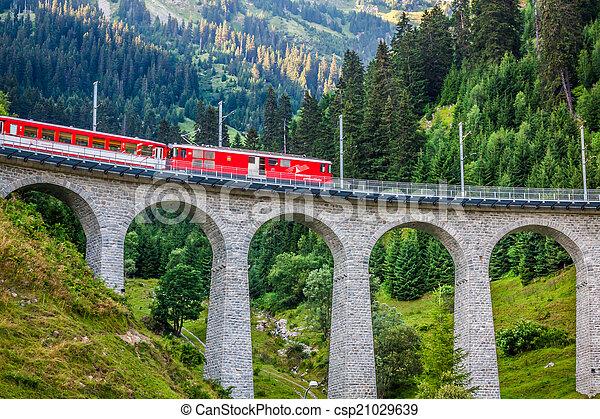 suisse, railway., switzerland. - csp21029639