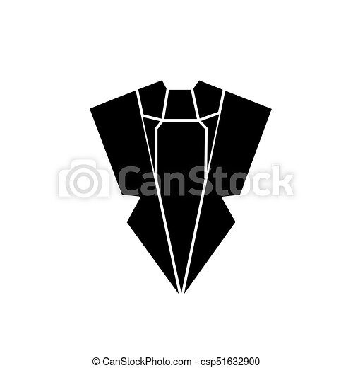 suit and tie icon, vector illustration, sign on isolated background