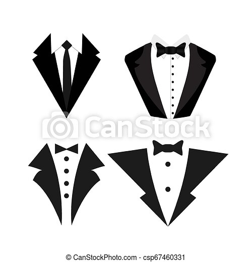 Suit icon isolated on a white background. - csp67460331