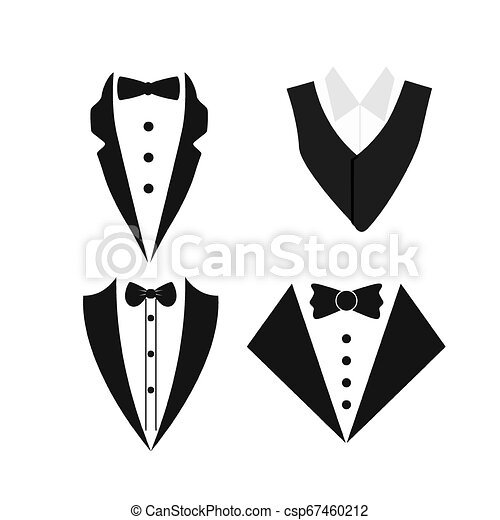 Suit icon isolated on a white background. - csp67460212