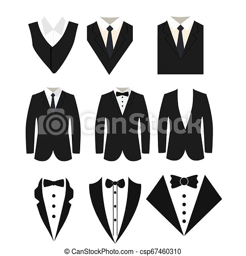 Suit icon isolated on a white background. - csp67460310
