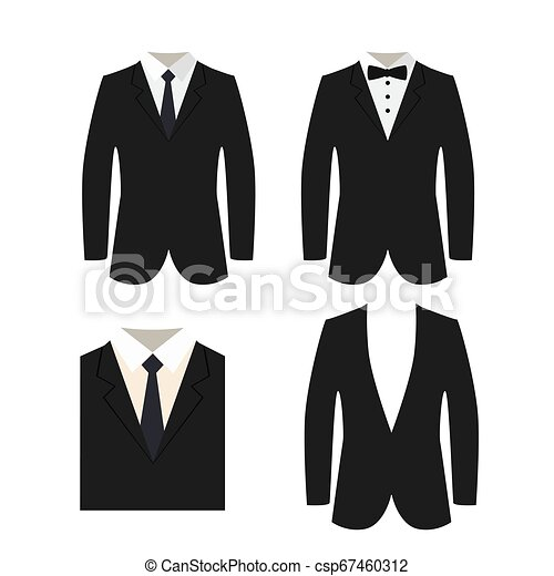 Suit icon isolated on a white background. - csp67460312