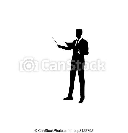Un hombre está en traje. Ilustración del vector - csp3128792