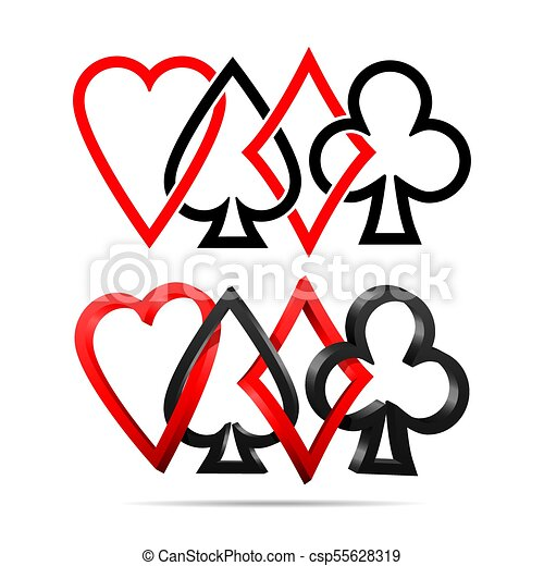 suit of playing cards vector illustration symbols isolated rh canstockphoto com deck of cards clipart free playing cards clipart