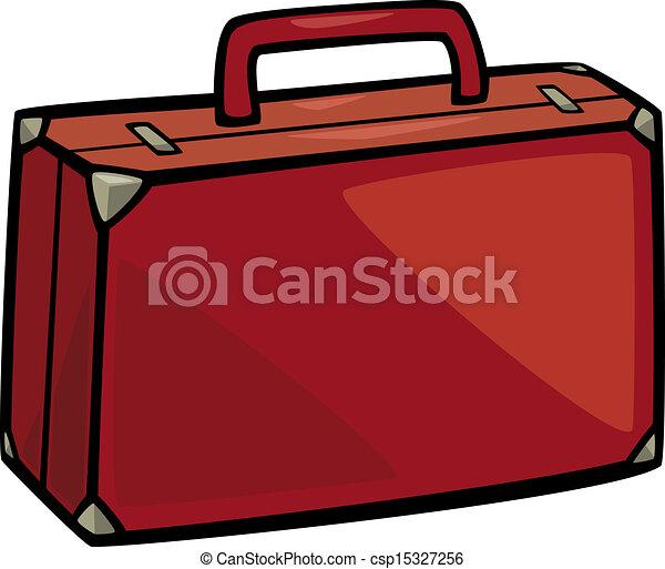 suitcase clip art cartoon illustration - csp15327256
