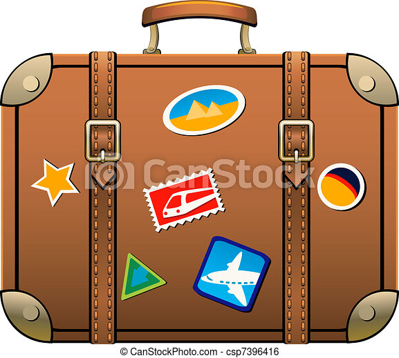 suitcase isolated over white eps 8 ai jpeg rh canstockphoto com luggage tag clip art luggage tag clip art free