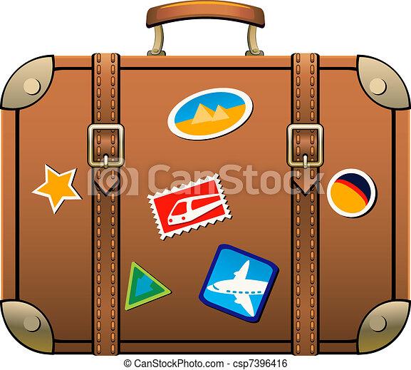 Suitcase isolated over white. eps 8, ai, jpeg clip art ...