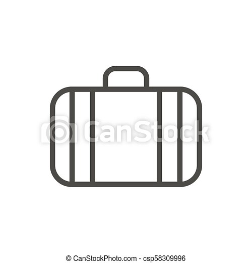 Suitcase icon vector. Line luggage symbol isolated. Trendy flat outline ui  sign design. Thin linear