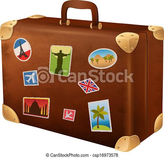 Suitcase traveler. Vector illustration suitcases traveler ...