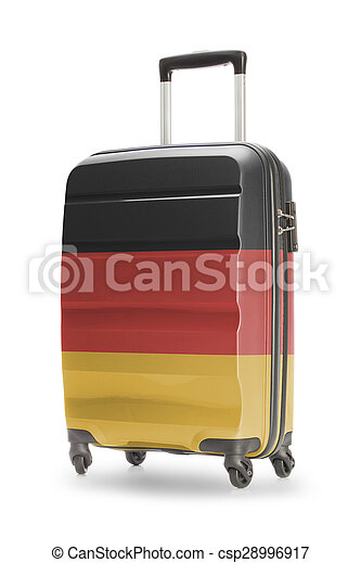 Suitcase with national flag on it - Germany - csp28996917