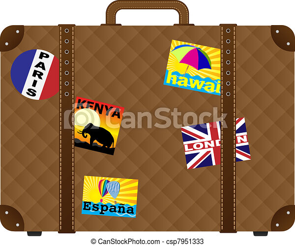 Suitcase with stickers csp7951333