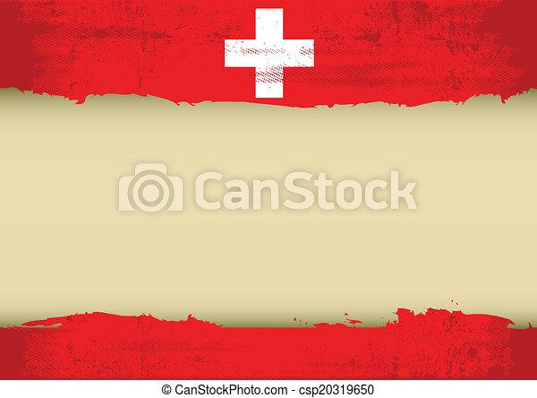 suizo, rasguñado, bandera - csp20319650