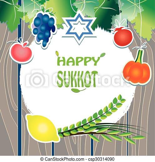 Sukkot flat greeting card wooden jewish holiday sukkot greeting sukkot flat greeting card wooden csp30314090 m4hsunfo