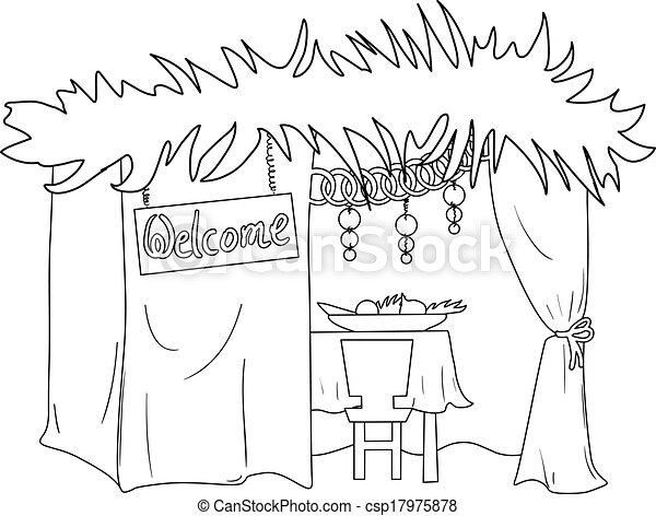 Sukkah para sukkot coloring Page - csp17975878