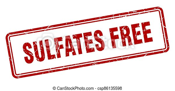 sulfates free stamp. square grunge sign on white background - csp86135598