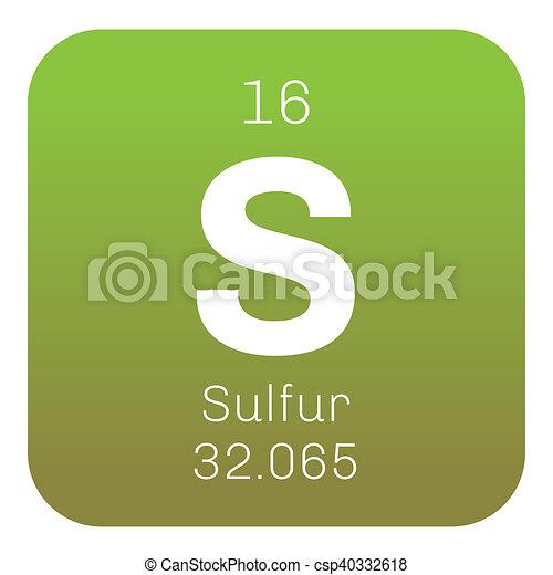Sulfur chemical element abundant non metal element colored icon sulfur chemical element abundant non metal element colored icon with atomic number and atomic weight chemical element of periodic table urtaz Images