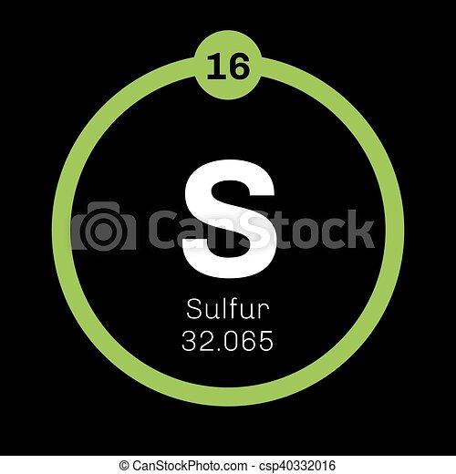 Sulfur Chemical Element Abundant Non Metal Element Colored Icon