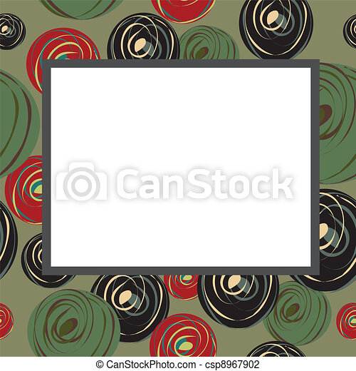 Sulfuric frame with abstract circle - csp8967902