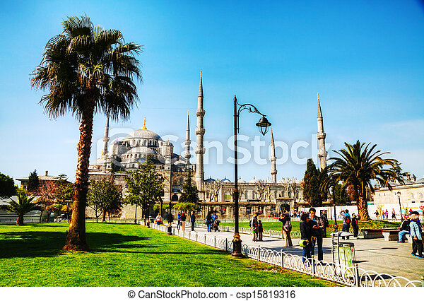 Sultan Ahmed Mosque (Blue Mosque) in Istanbul - csp15819316