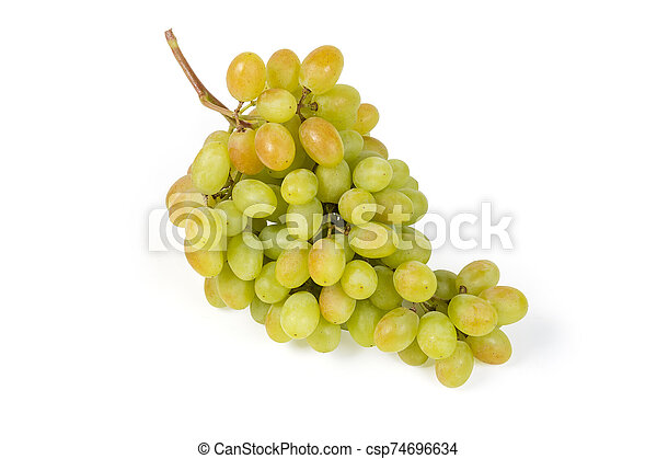 Sultana grape cluster on a white background - csp74696634