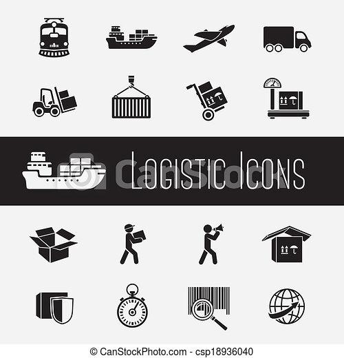Icones de la cadena de suministros listos - csp18936040