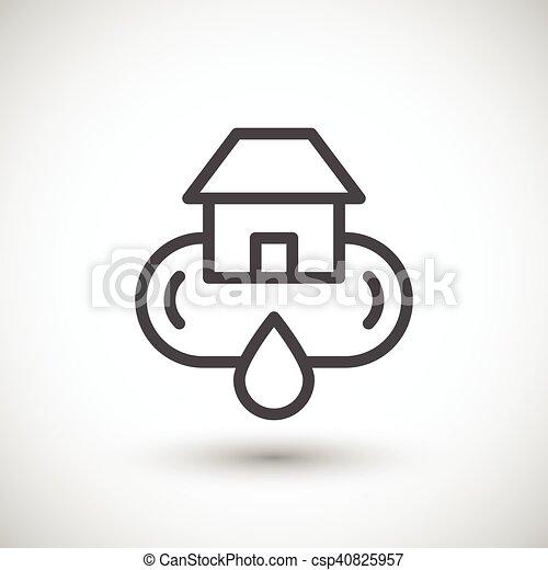 Icono del sistema de suministro de agua casera - csp40825957