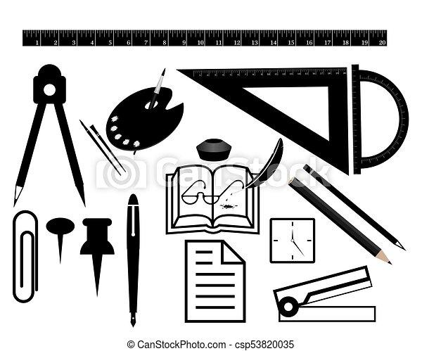 Un juego de papelería para suministros de oficina - csp53820035