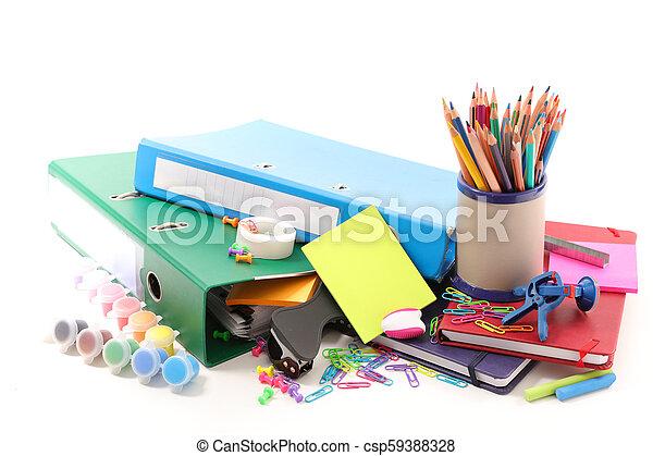 Escuela de suministros de negocios - csp59388328