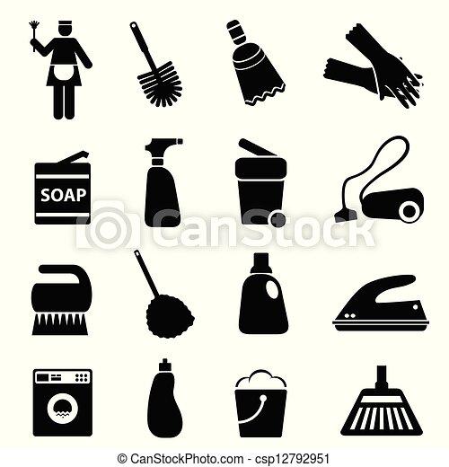 Limpiar suministros y herramientas - csp12792951