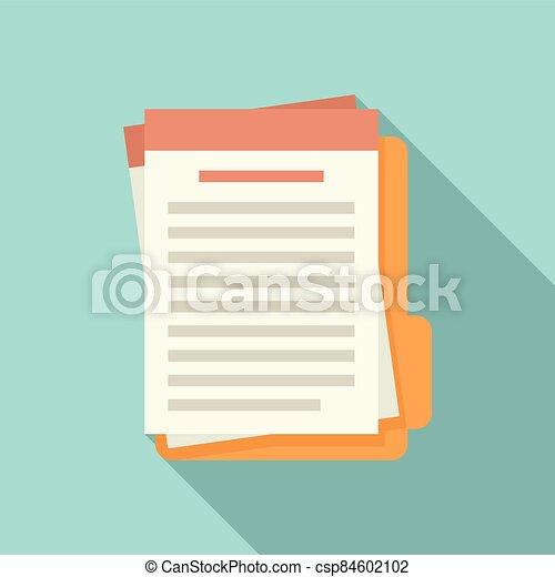 Summary folder icon, flat style - csp84602102