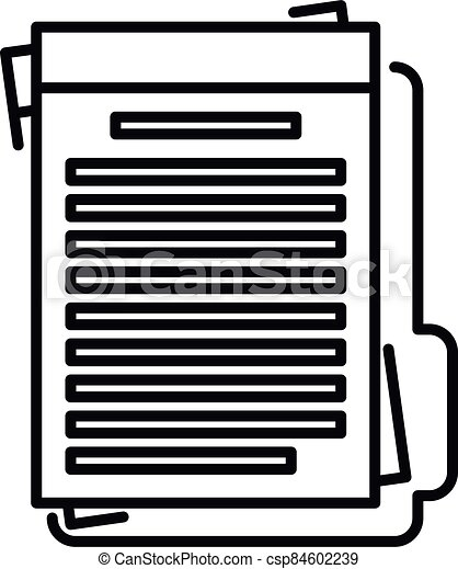 Summary folder icon, outline style - csp84602239
