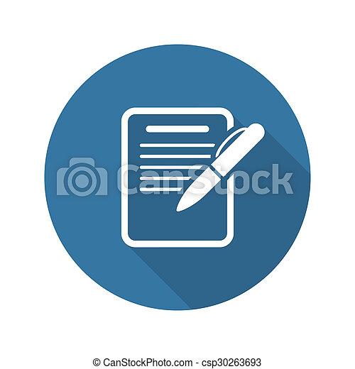 Summary Icon. Business Concept. Flat Design. - csp30263693