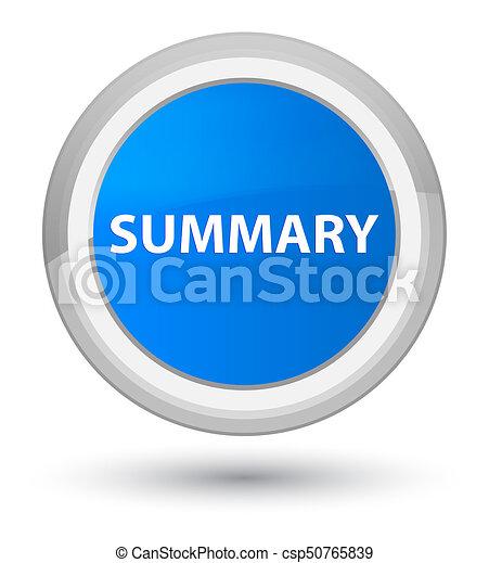 Summary prime cyan blue round button - csp50765839