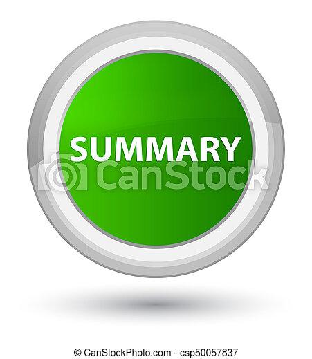 Summary prime green round button - csp50057837