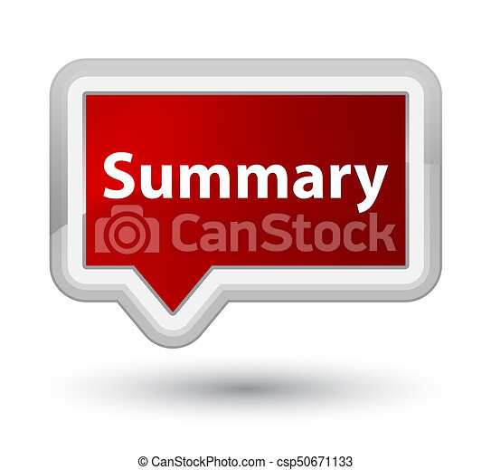 Summary prime red banner button - csp50671133