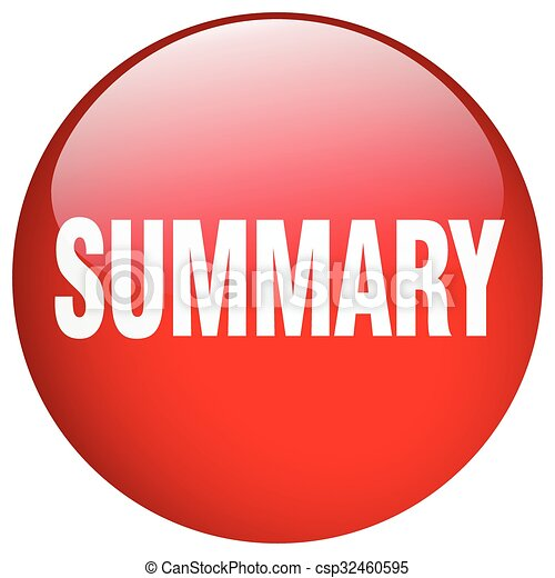summary red round gel isolated push button - csp32460595
