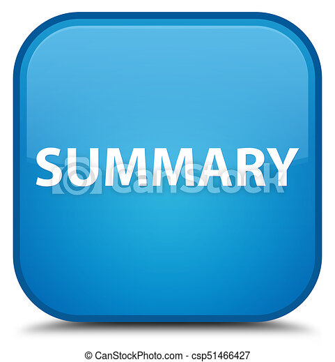 Summary special cyan blue square button - csp51466427