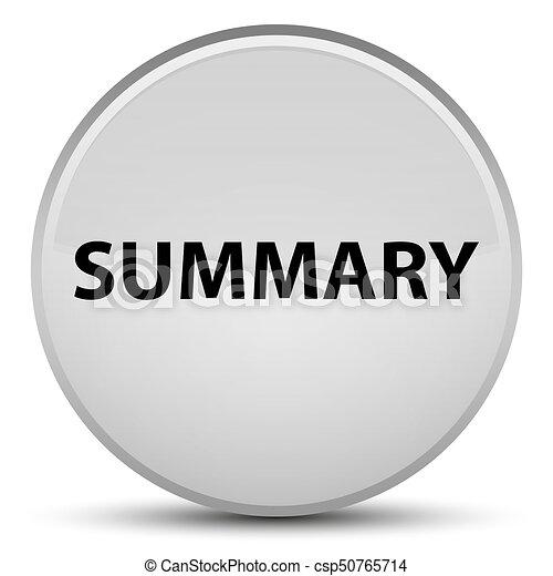 Summary special white round button - csp50765714